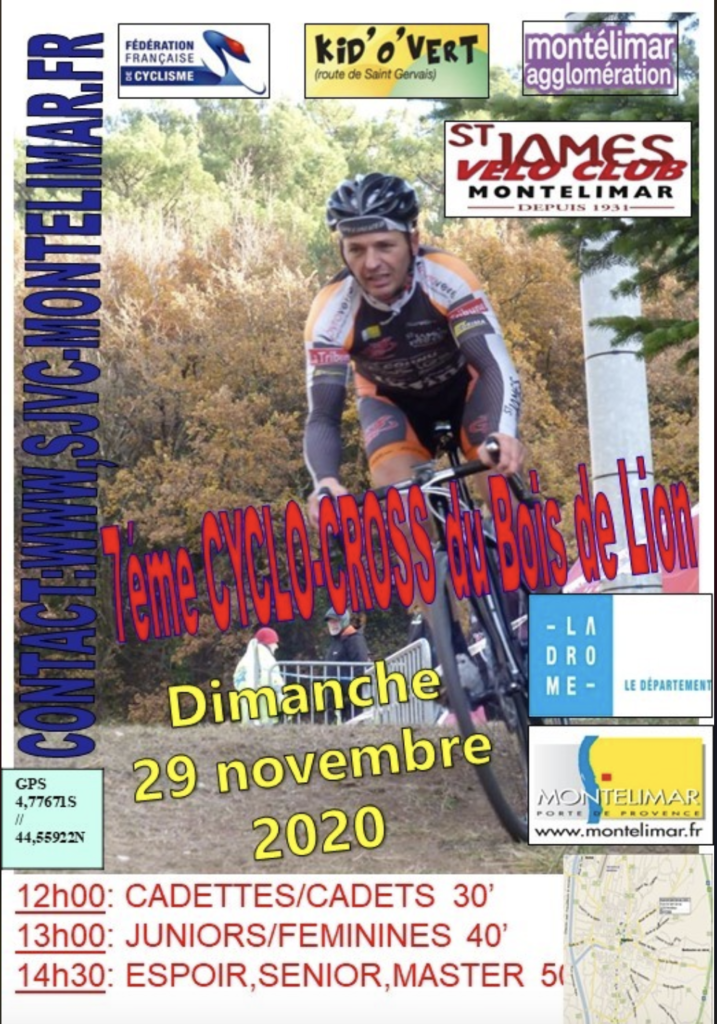 Affiche cyclo cross saint james vélo club montelimar